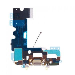 Apple iPhone 7 - Biely nabíjací konektor + flex kábel s mikrofónom