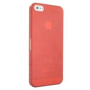 Matný ultratenký kryt iPhone 5/5S/SE červený