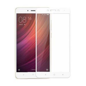 FULL GLUE 3D tvrdené ochranné sklo pre Xiaomi Redmi 4A - biele