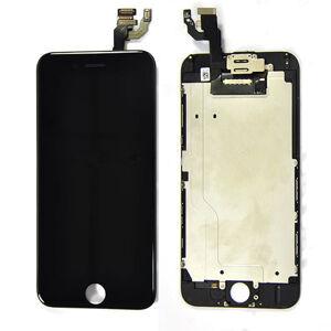 Apple ORIGINAL Čierny LCD displej iPhone 6 (s prednou kamerou + proximity senzor OEM) - bez home button