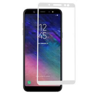 FULL GLUE 3D tvrdené ochranné sklo pre Samsung Galaxy A6 Plus 2018 - biele