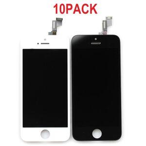 10PACK - LCD displej iPhone 5/5S/SE OEM - biely/čierny