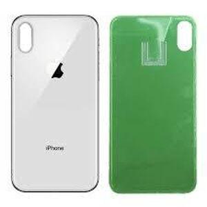 Apple iPhone XS - Zadné sklo housingu - biele