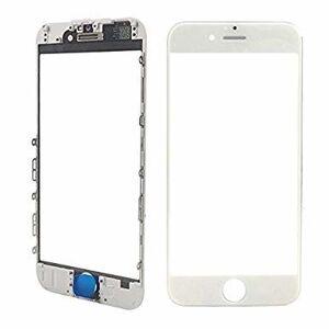 Apple Oleofóbne náhradné biele predné sklo s rámom na iPhone 6