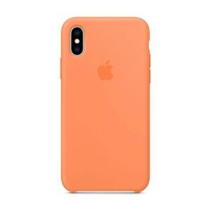Apple iPhone Xs Silicone Case - Papaya