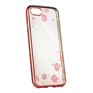 Forcell DIAMOND Case  iPhone XS rose- zlatý