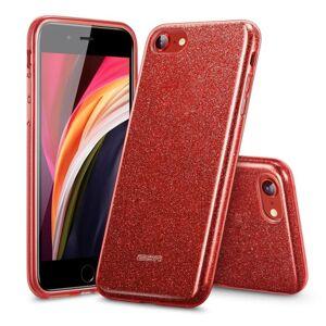 ESR Makeup Glitter   iPhone 7 / 8 / SE 2020 červený