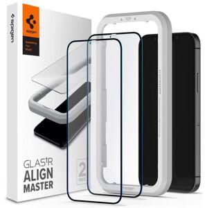 Spigen Align 3D ochranné sklo 2-Pack s inštalačným rámom - iPhone 12 - 2ks v balení