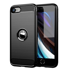 Forcell CARBON Case  iPhone SE 2020 čierny