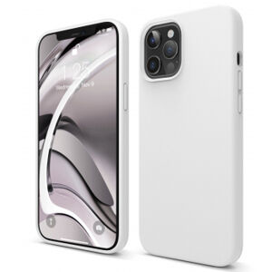 iPhone 12 Pro Silicone Case - biely