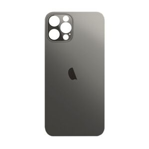 Apple iPhone 12 Pro - Sklo zadného housingu so zväčšeným otvorom na kameru BIG HOLE - space grey