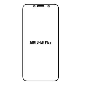 Hydrogel - ochranná fólia - Motorola E6 Play
