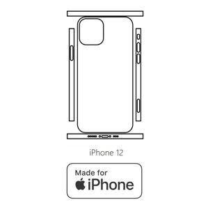 Hydrogel - matná zadná ochranná fólia (full cover) - iPhone 12 - typ 8