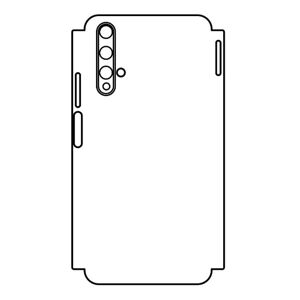Hydrogel - zadná ochranná fólia aj s okrajom okrajov - Huawei Honor 20