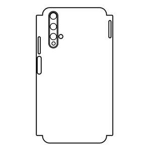 Hydrogel - matná zadná ochranná fólia aj s ochranou okrajov - Huawei Honor 20