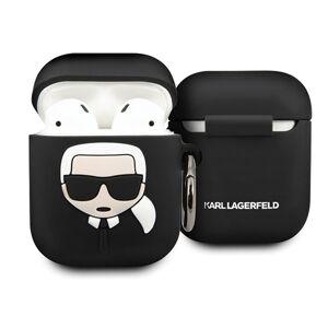 Original   KARL LAGERFELD KLACCSILKHBK Apple Airpods čierny