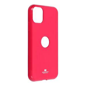 Jelly Case Mercury  iPhone 11 ( logo hole )  ružový