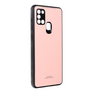 GLASS Case  Samsung Galaxy A21S ružový