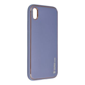 Forcell LEATHER Case  iPhone XR modrý
