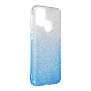 Forcell SHINING Case  Samsung Galaxy M31 priesvitný/modrý