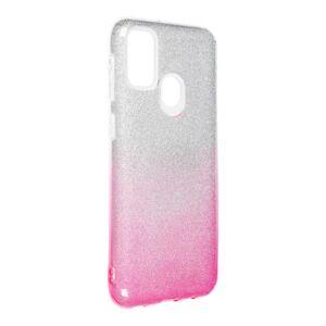 Forcell SHINING Case  Samsung Galaxy M21 priesvitný/ružový