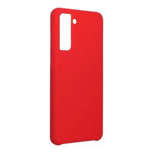 Forcell Silicone Case  Samsung Galaxy S21 červený