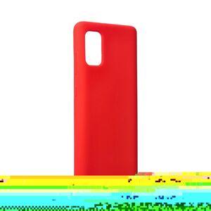 Forcell Silicone Case  Samsung Galaxy A41 červený