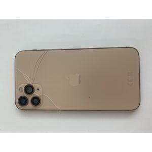 ZLAVA - Apple iPhone 11 Pro - Zadný Housing (Zlatý) s malými predinštalovanými dielmi - ROZBITE SKLICKO