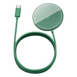 BASEUS bezdrôtová nabíjačka - Simple Mini 15W MagSafe - zelená