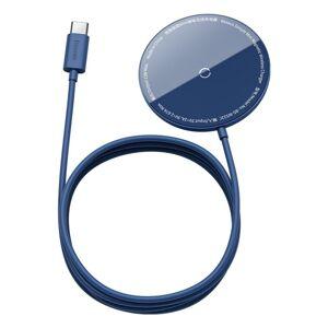 BASEUS bezdrôtová nabíjačka - Simple Mini 15W MagSafe - modrá