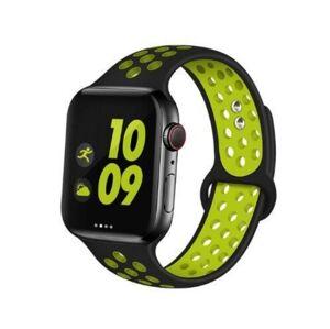 Remienok pre Apple Watch (38/40mm) Sport, black-yellow