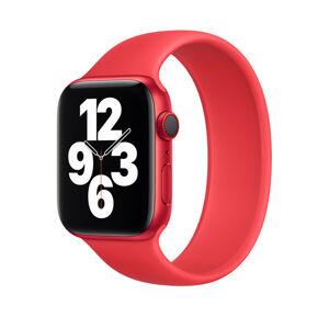 Remienok pre Apple Watch (42/44mm) Solo Loop, veľkosť L - červený (PRODUCT RED)