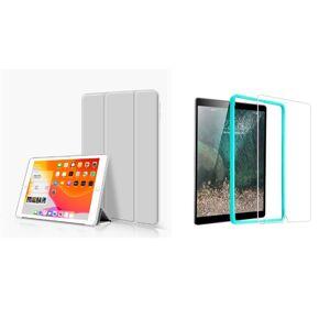 TriFold Smart Case - kryt so stojančekom pre iPad Pro 9.7 - šedý + Ochranné tvrdené sklo s inštalačným rámikom