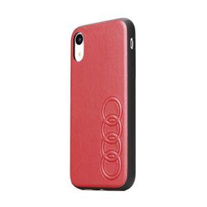 Original AUDI Leather Case AU-TPUPCIPXS-TT/D1-RD iPhone X/Xs červený
