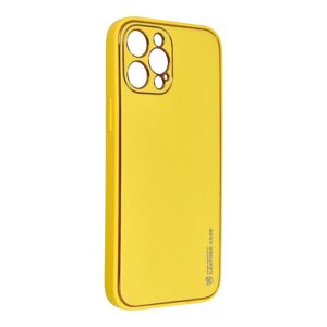 Forcell LEATHER Case  iPhone 12 Pro Max yellow